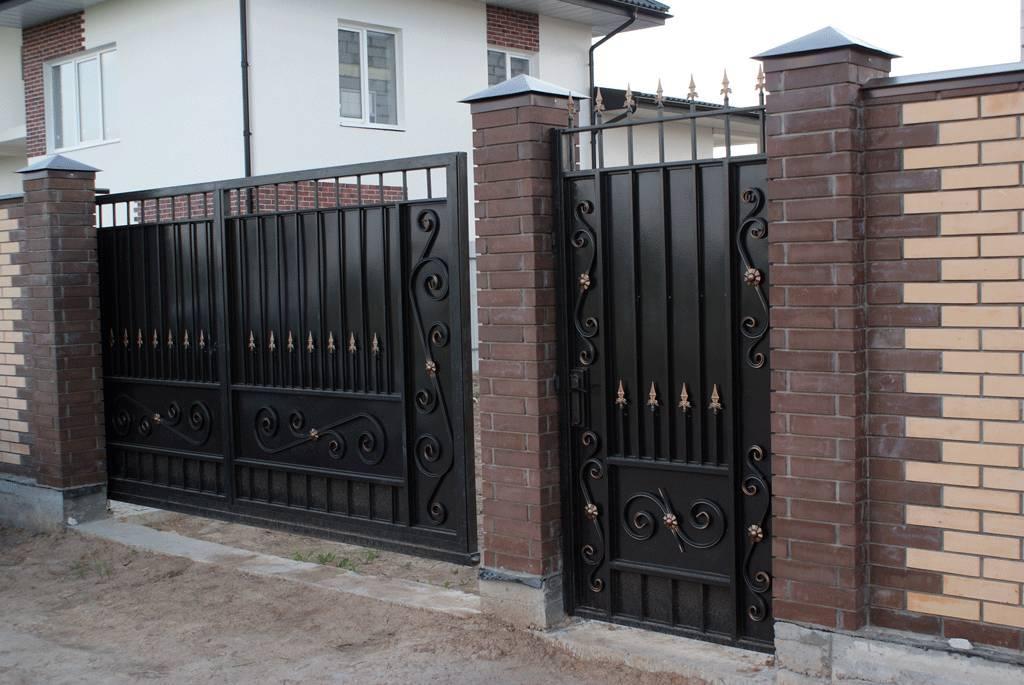 Калитки ворота ворота с калиткой на даче фото